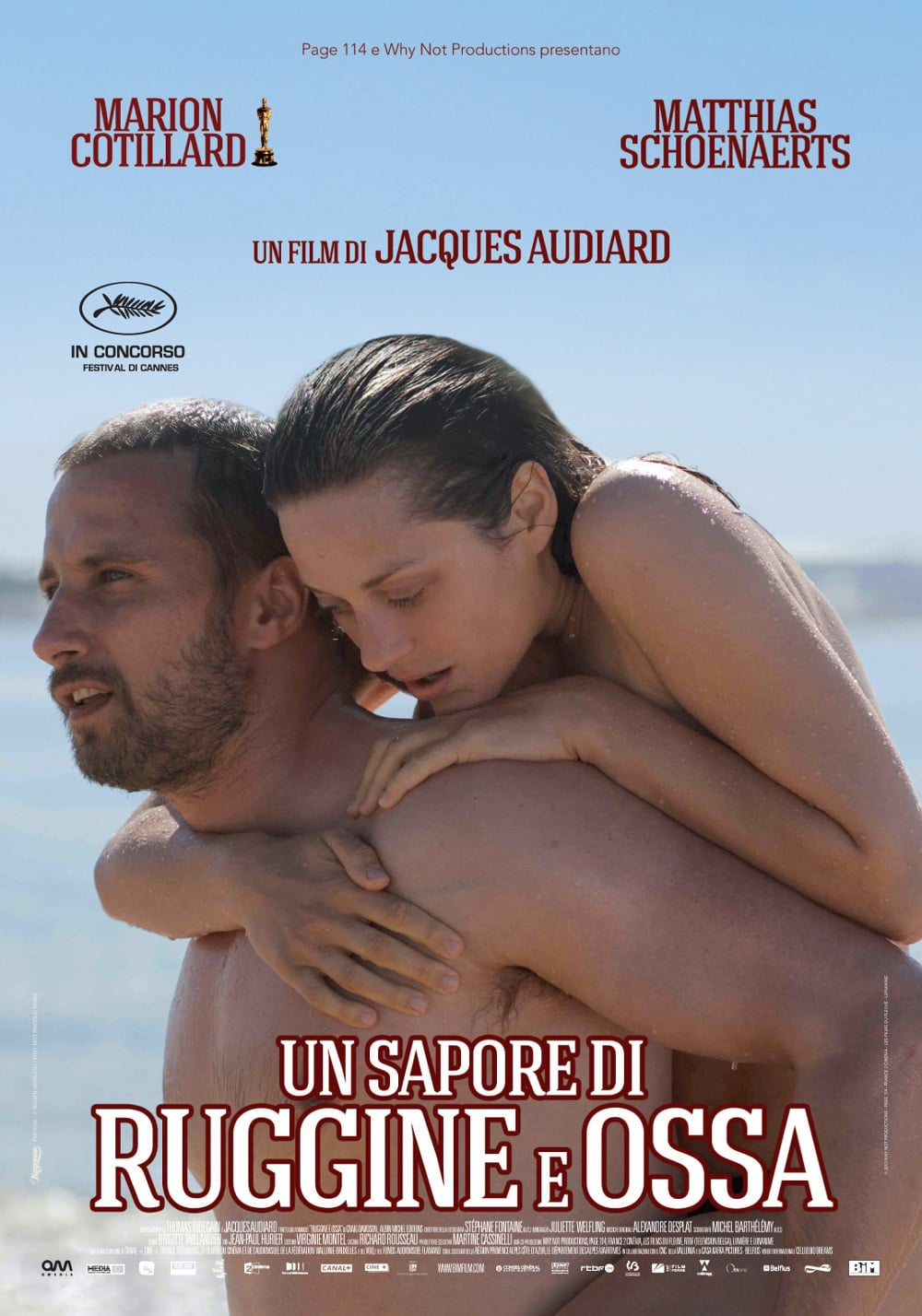 "Poster for the movie ""Un sapore di ruggine e ossa"""