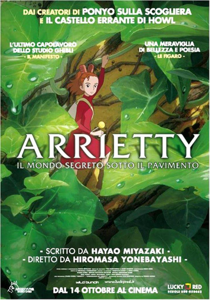 """Poster for the movie """"Arrietty – Il mondo segreto sotto il pavimento"""""""