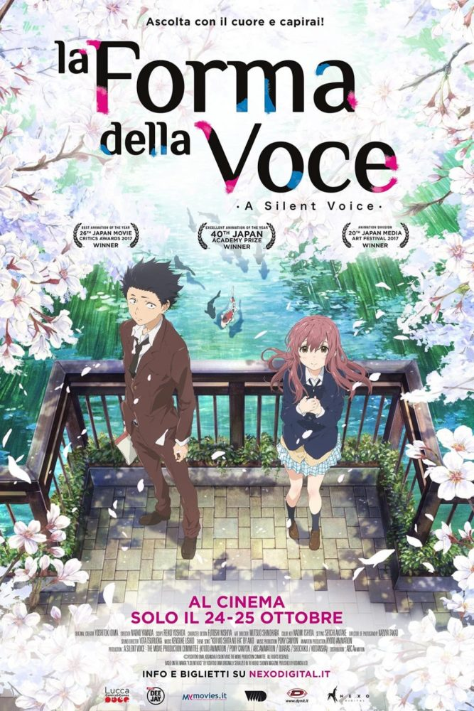"Poster for the movie ""La forma della voce"""
