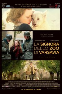 "Poster for the movie ""La signora dello zoo di Varsavia"""
