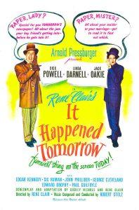 "Poster for the movie ""Avvenne... domani"""
