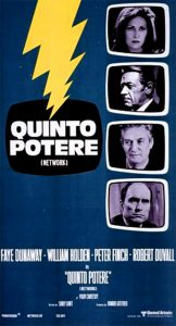 "Poster for the movie ""Quinto potere"""