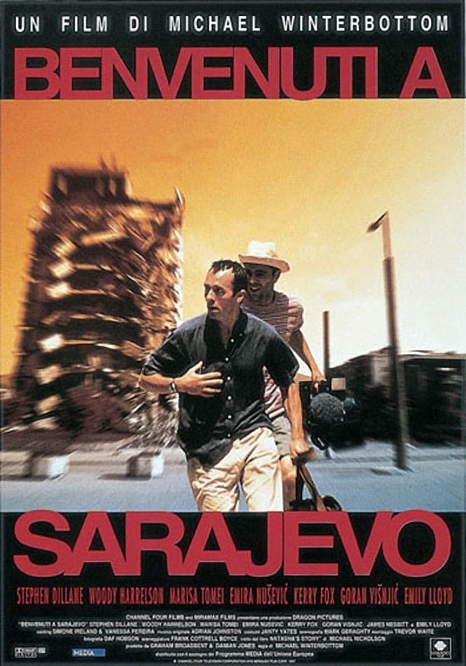 "Poster for the movie ""Benvenuti a Sarajevo"""